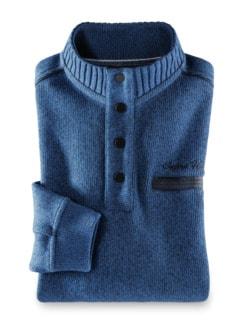 Wohlfühl-Pullover Softrib Königsblau Detail 1
