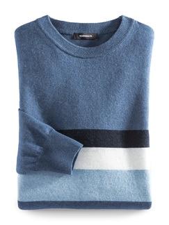 Streifenpullover Cashmere-Mix Jeansblau/Marin Detail 1