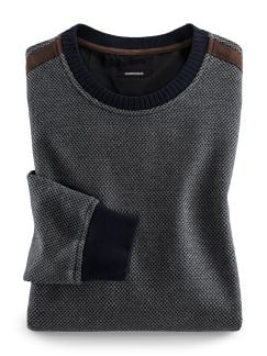 Aktiv-Pullover Soft-Cotton Blau Detail 1