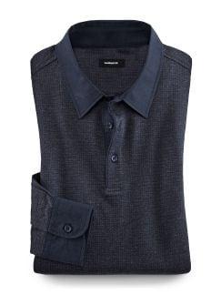 Hemden-Polo Blau/Grau Detail 1