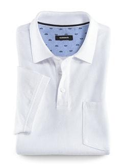 Pique-Polo Pima Cotton Weiß Detail 1