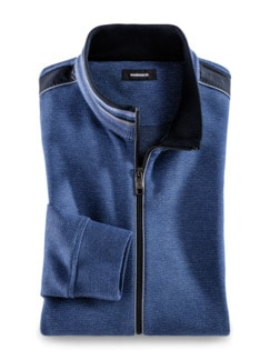 Komfort-Jacke Farbeffekt Mittelblau Detail 1