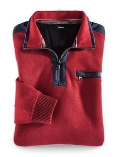 Wohlfühl-Pullover Bedford Rot Detail 1