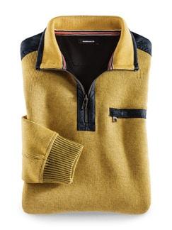 Wohlfühl-Pullover Bedford Gelb Detail 1