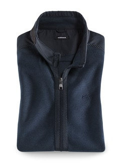 Zip-Weste Softrib Blau Detail 1