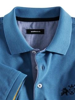Walbusch Edition Polo Mittelblau Detail 3