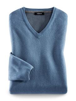 Soft-Pullover Ultrafein Mittelblau Detail 1
