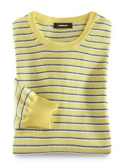 Leicht-Pullover Sommerringel Gelb Detail 1