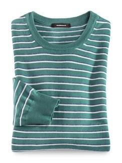 Leicht-Pullover Sommerringel Lagune Detail 1