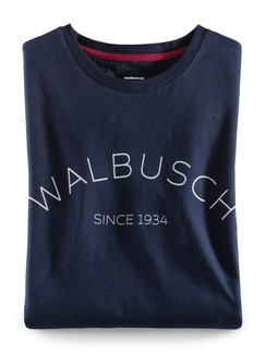 Rundhals Shirt Walbusch Edition Navy Detail 1