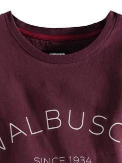 Rundhals Shirt Walbusch Edition Burgund Detail 3