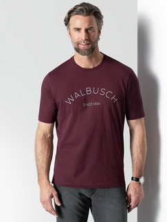 Rundhals Shirt Walbusch Edition Burgund Detail 2