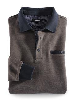 Polo-Pullover Farbeffekt Beige Detail 1