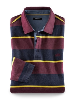Thermo-Polo Burgund/Navy Detail 1