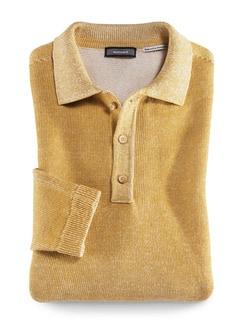 Polo-Pullover Heimat Gelb Detail 1