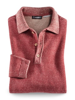 Polo-Pullover Heimat Rot Detail 1