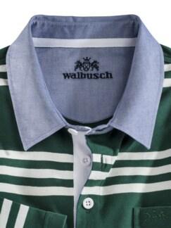 Streifen-Shirt Supersoft Dunkelgrün gestreift Detail 3