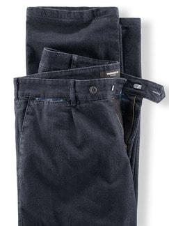 Thermo Bundfalten-Comfortjeans Dark Blue Detail 4