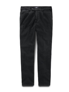 Thermo Bundfalten-Comfortjeans Black Detail 1