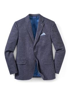 Semi-Dress Sakko Blau Gemustert Detail 1