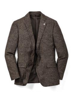Donegal Tweed-Sakko Herbstlaub braun Detail 1