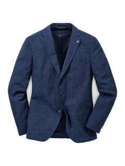 Sakko wash and wear Jeansblau Detail 1