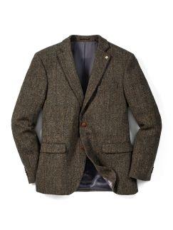 Harris-Tweed Sakko Schilf Detail 1