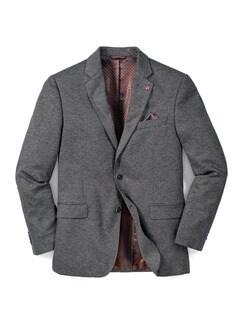 Jersey-Sakko Bicolor Grau Detail 1
