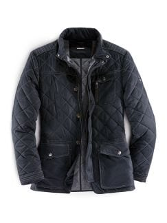 Herbst Steppjacke Navy Detail 1