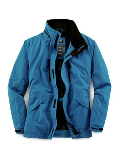 Klepper Jacke Aquastop Atlasblau Detail 1