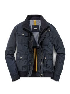Travel Blouson Shape Memory Navy Detail 1