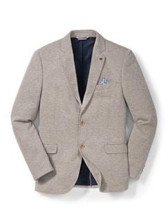 Jersey-Bequem-Sakko Beige Detail 1