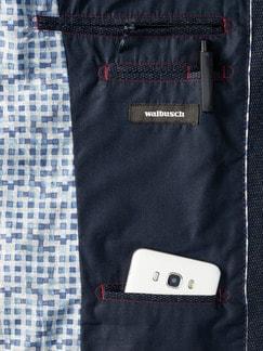Jersey-Bequem-Sakko Blau Detail 4