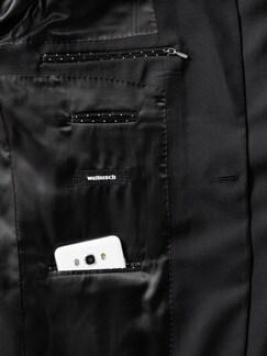 Biella Anzug-Sakko Super100 Schwarz Detail 4