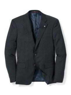 Reise-Anzug-Sakko Minimalkaro Blau/Schwarz Detail 1
