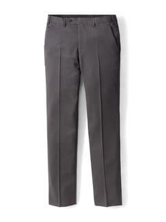 Nadelstreifen Anzug-Hose anthrazit