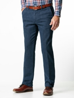 Jogger-Jeans Chino Glencheck Marine Detail 1