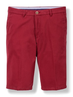 Easycare Light Cotton Bermudas Rot Detail 1