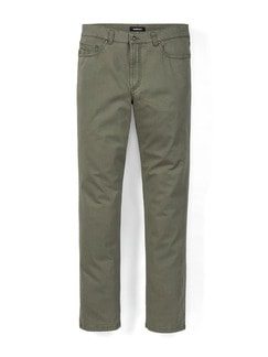 Five Pocket Broken Twill Khaki Detail 1