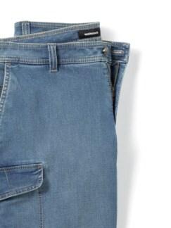 Cargo Jeans Bermudas Bleached Detail 4