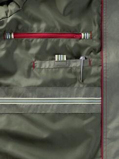 Baumwoll-Wachsblouson Oliv Detail 3