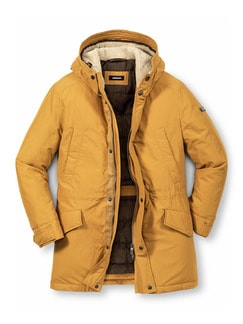 Thermo Long-Parka Gelb Detail 1