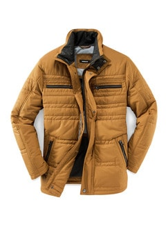 High Performance Steppjacke Gelb Detail 1