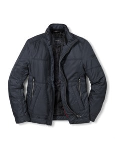 Herbst Jacke Blauschwarz Detail 1