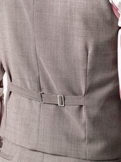 Anzug-Weste Sommerwolle Sand Detail 4