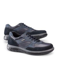 Aquastop Leder-Sneaker Blau Detail 1