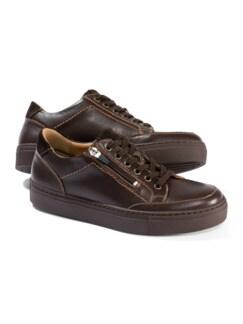 Reißverschluss-Sneaker Braun Detail 1