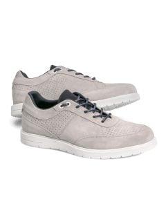 Velours-Sneaker Grau Detail 1
