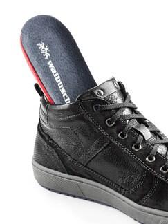 Kalbsleder-Sneaker High Top Schwarz Detail 3