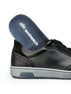 Kalbsleder-Sneaker Schwarz Detail 3